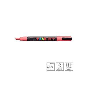 Caneta Posca PC-3M 1,3mm Rosa Coral - 01 unidade - Uni Posca