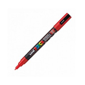 Caneta Posca PC-3M 1,3mm Vermelha - 01 unidade - Uni Posca