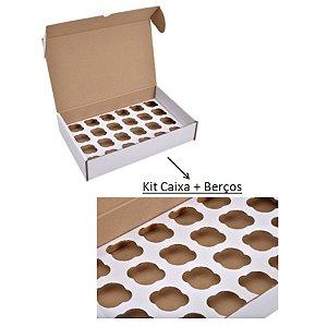 Caixa para Transporte 24 Minis Cupcakes com berço 22x34x7 cm - Niagara