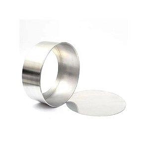 Forma Redonda Reta Fundo falso de alumínio - 1 un - 30x10 cm - GoldPan Formas