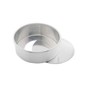 Forma Redonda Reta Fundo falso de alumínio - 1 un - 17x8 cm - GoldPan Formas