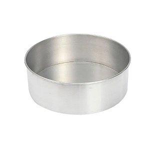 Forma Redonda Reta Fundo fixo de alumínio - 1 un - 20x8 cm - GoldPan Formas