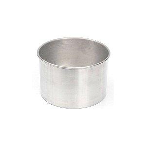 Forma Redonda Reta Fundo fixo de alumínio - 1 un - 10x8 cm - GoldPan Formas