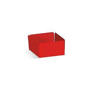 Forminha Reta para Doces Vermelho - 100 unidades - 3,5x3,5x2cm - Cromus Profissional