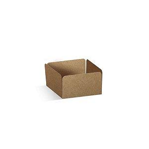 Forminha Reta para Doces Kraft - 100 unidades - 3,5x3,5x2cm - Cromus Profissional