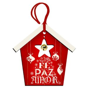 Decor Home Tag 5 Natal - Fé, Paz e Amor - DHT5N-001 - LitoArte Rizzo Confeitaria