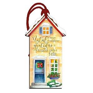 Decor Home Tag Natal - Casa - DHTN-018 - LitoArte Rizzo Confeitaria