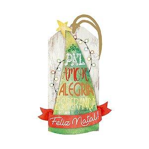 Decor Home Tag Natal - Paz, Amor, Alegria... - DHTN-003 - LitoArte Rizzo Confeitaria