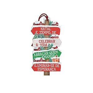 Decor Home Tag Natal - Natal é Tempo... - DHTN-022 - LitoArte Rizzo Confeitaria