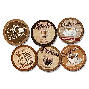 Kit Porta Copos - Hot Coffee - KPCL-006 - Litoarte Rizzo Confeitaria