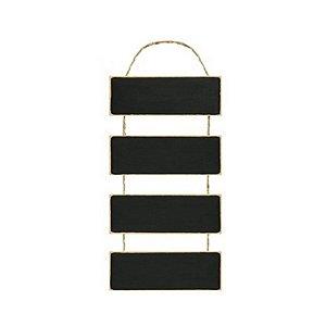 Placa Lousa em MDF com Cordão de Juta- DHLO8-003 - LitoArte Rizzo Confeitaria