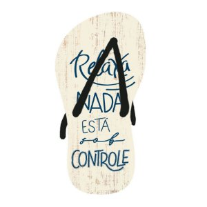 Decor Home Tag 2 - Chinelo - DHT2-171 - LitoArte Rizzo Confeitaria