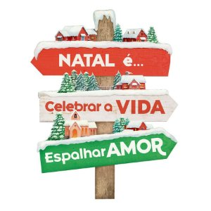 Placa Decorativa em MDF - Decor Home Natal - Natal é Celebrar - DHN-034 - LitoArte Rizzo Confeitaria