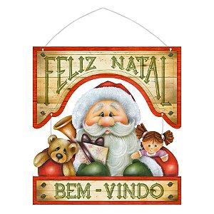 Placa Decorativa em MDF - Decor Home Natal - Bem Vindo - DHN-013 - LitoArte Rizzo Confeitaria