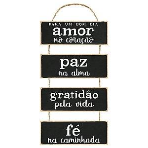 Placa Decorativa em MDF - Para um Bom Dia - DHPM6-034 - LitoArte Rizzo Confeitaria