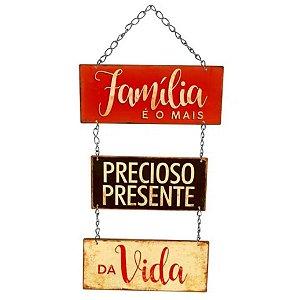 Placa Decorativa em MDF - Família - DHPM5-243 - LitoArte Rizzo Confeitaria