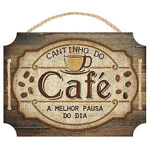 Placa Decorativa em MDF - Cantinho do Café - DHPM5-370 - LitoArte Rizzo Confeitaria