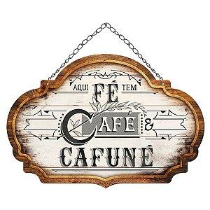 Placa Decorativa em MDF - Café e Cafuné - DHPM5-380 - LitoArte Rizzo Confeitaria