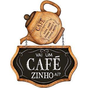 Placa Decorativa em MDF - Café - DHPM5-379 - LitoArte Rizzo Confeitaria