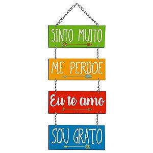 Placa Decorativa em MDF - Sinto Muito, Me Perdoe... - DHPM5-279 - LitoArte Rizzo Confeitaria