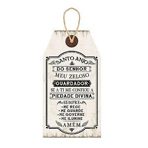 Placa Decorativa em MDF - Santo Anjo- DHPM5-251 - LitoArte Rizzo Confeitaria