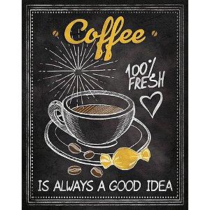 Placa Decorativa em MDF - Coffee - DHPM-183 - LitoArte Rizzo Confeitaria