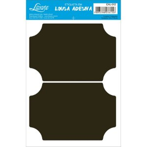 Etiqueta Lousa Adesiva em Vinil - Liso G - EAL-012 - LitoArte Rizzo Confeitaria
