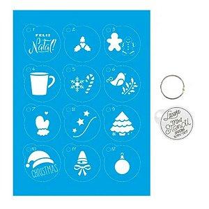 Kit Mini Stencil Natal Diversos - STMIN-001 - LitoArte Rizzo Confeitaria