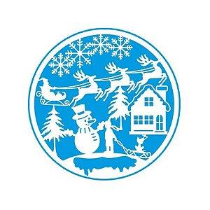 Stencil Natal boneco de neve - STAN-012 - LitoArte Rizzo Confeitaria