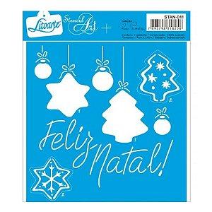 Stencil Feliz Natal - STAN-011 - LitoArte Rizzo Confeitaria