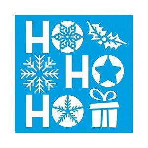 Stencil Natal HoHoHo - STNX-039 - LitoArte Rizzo Confeitaria