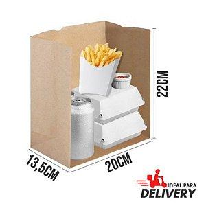 Saco Delivery Kraft - 22x13,5x20cm - 50 unidades - Ref 5782 - WMA
