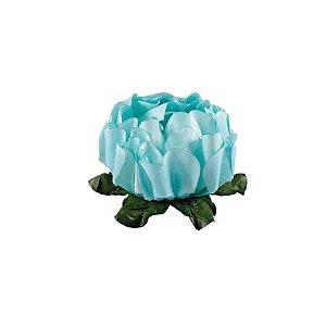 Forminha para Doces Finos - Rosa Maior Verde Tiffany - 40 unidades - Decora Doces - Rizzo