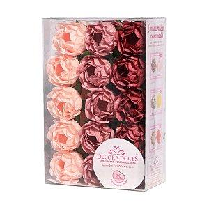 Forminha para Doces Finos - Bela Tons Rosas Seco - 30 unidades - Decora Doces - Rizzo