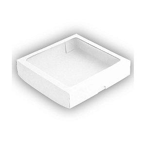 Caixa 25 Doces com Visor S8 (19cm x 19cm x 4cm) Branca 10 unidades Assk Rizzo