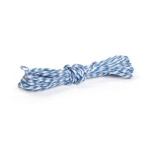 Fio Decorativo Torcido 5 mts Branco e Azul Cromus Rizzo Confeitaria