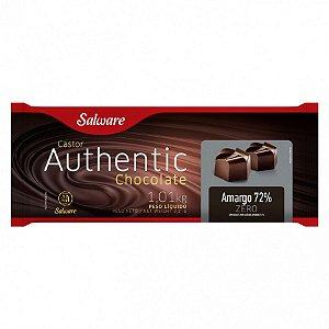 Chocolate Authentic Zero Açúcar Amargo 72% 1,01KG - Salware