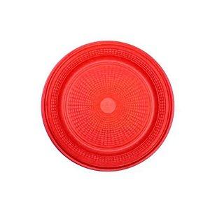 Prato Bolo Descartável 15cm Vermelho 10 unidades Trik Trik