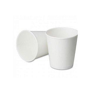 Copo de papel Branco Biodegradável - 40 un - 266 ml - Silver Festas