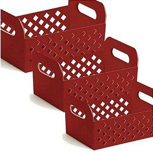 Caixote de Papel Cartão - Red - 01 unidade - Cromus