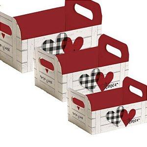 Caixote de Papel Cartão - Meu Amor - 01 unidade - Cromus - Rizzo