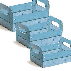Caixote de Papel Cartão - Azul - 01 unidade - Cromus