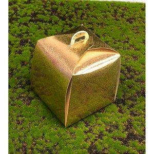 Caixa Panetone Ouro 100g 10x10x10 com 10 un Assk Rizzo Confeitaria