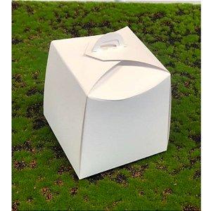 Caixa Panetone Branca 100g 10x10x10 com 10 un Assk Rizzo Confeitaria