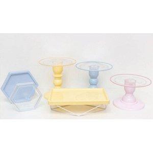 Kit Comemore MAIS Clean - 34 Colors Azul Candy, Creme e Rosa Candy - 01 Unidade - Só Boleiras - Rizzo