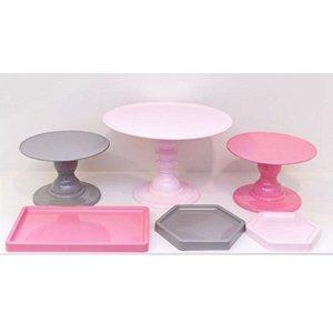 Kit Comemore 02 - Rosa, Rosa Candy e Cinza - Só Boleiras - Rizzo