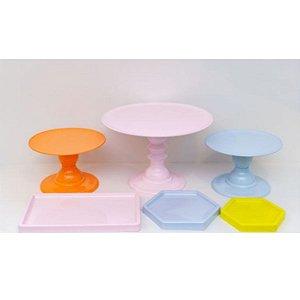 Kit Comemore 03 - Colors Laranja, Rosa Candy , Azul Candy e Amarelo- Só Boleiras - Rizzo