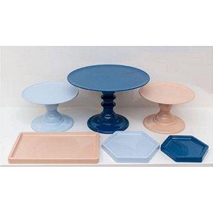 Kit Comemore 07 - Azul Marinho,Azul Candy e Rose - Só Boleiras - Rizzo