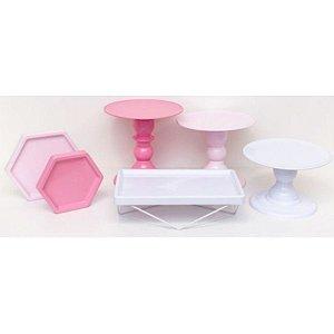 Kit Comemore MAIS - 19 Rosa, Rosa Candy e Branco - 01 Unidade - Só Boleiras - Rizzo