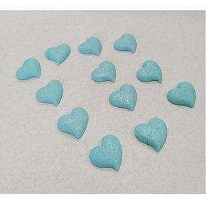 Confeitos Comestíveis Coração M Azul - Flores e Encantos de Açúcar Rizzo Confeitaria